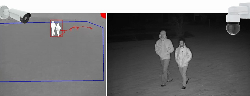 AXIS Perimeter Defender suporta  noua aplicatie de urmarire automata PTZ