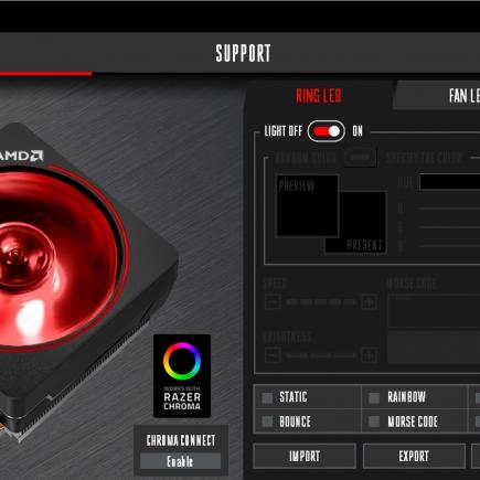ALERTĂ MEDIA: Cooler-ul AMD Wraith Prism iluminat folosind tehnologia Razer Chroma